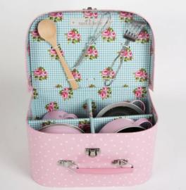 Sass & Belle Kitchen Cooking Box Pink Polka Dot