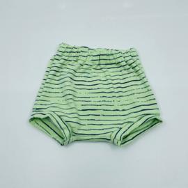 Bummie groen met streepjes