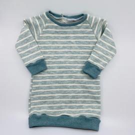 Sweaterdress met strepen