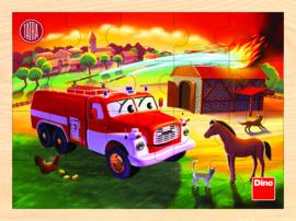 Houten Legpuzzel - Tatra Brandweerwagen