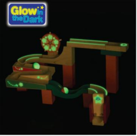TrixTrax Houten Knikkerbaan Glow in the Dark