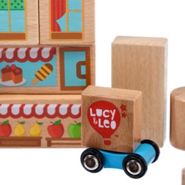 Houten Bouwblokken - Middelgrote set van Lucy & Leo