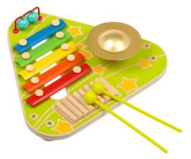 Muzikaal houten activiteitsbord