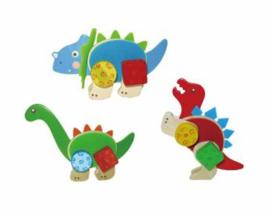 Houten Constructieset Dinosaurus