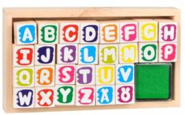 Houten Stempelset - Alfabet