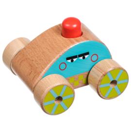 Car Squeaker - Houten autootje met sirene