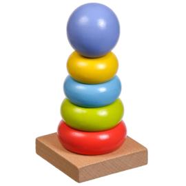 Houten Stapeltoren - Kleurenpiramide
