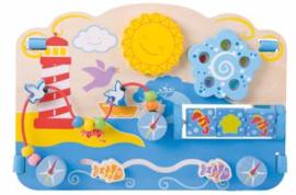 Houten activiteitenbord - Zee