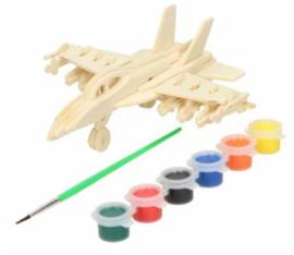Maak je eigen vliegtuig in hout - Bouw-en verfset