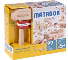 Matador Explorer 5+ houten bouwset (99-delig)