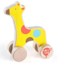 Houten vriendje - Giraffe op Wielen