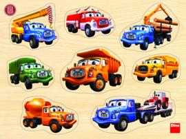 Houten noppenpuzzel - Tatra vrachtwagen (8 stukjes)