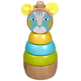Houten Stapeltoren - Kat
