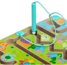 Magnetisch houten doolhof - Flowers Maze