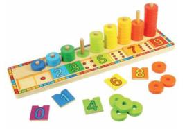 Houten leerspel leren tellen - Educatief houten speelgoed