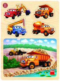 Houten puzzel - Tatra vrachtwagen (13 stukjes)