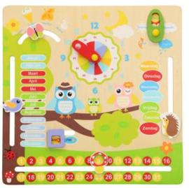 Houten Kalenderklok - Educatief Speelgoed