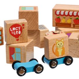 Houten Bouwblokken - Kleine set van Lucy & Leo
