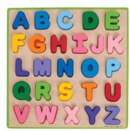 Houten Puzzel - Alfabet Leren