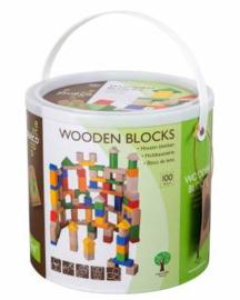 Ton Houten Blokken - 100 stuks
