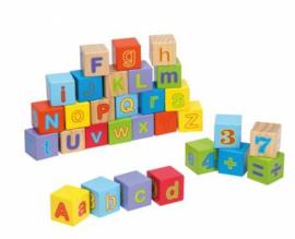 Houten Bouwblokken Alfabet