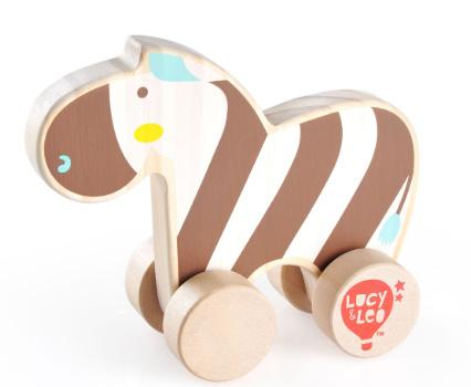 Houten vriendje - Zebra op Wielen