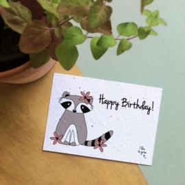 Happy Birthday - wilde bloemen-zaadmix