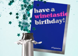 Sticker voor fles - Winetastic birthday