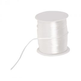 Silk cord - wit, per meter