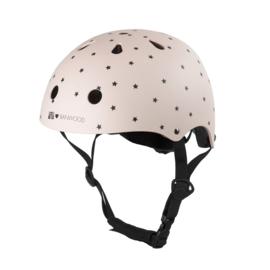 Helm - pink + sterretjes
