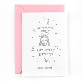 JEZUS BIRTHDAY - wenskaart