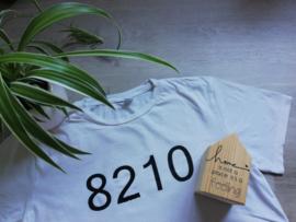 T-shirt met postcode