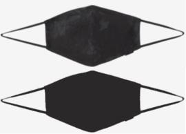 Set van 2 blanco stoffen mondmaskers (zwart - marmer)