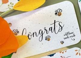 congrats - cadeaulabel (bloeiend)