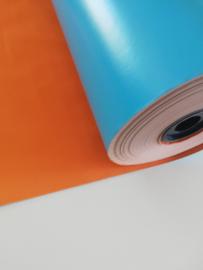 Dubbelzijdig Turquoise/oranje - per meter