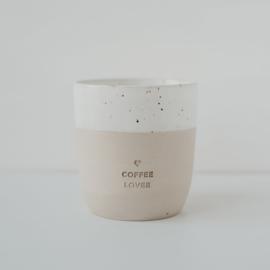 handgemaakte keramische mok 'coffee lover'