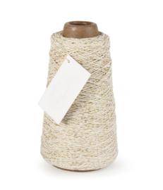 Cotton cord creme-gold, per meter