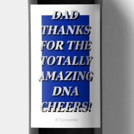 Sticker voor op een fles - DAD