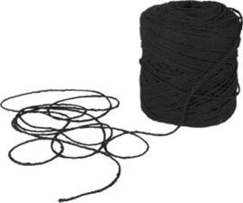 Vlaskoord zwart - per meter