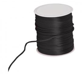 Silk cord - zwart, per meter