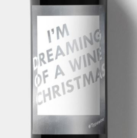 Sticker voor fles - I'M DREAMING OF A WINE CHRISTMAS