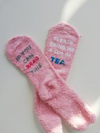 Homewear Socks TEA (roze)