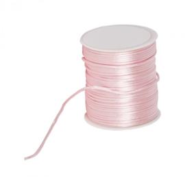 Silk cord - lichtroze, per meter