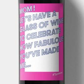 Sticker voor op een fles - MOM