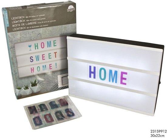 Lightbox - gekleurde letters
