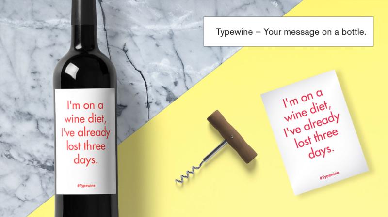 Sticker voor fles - Wine diet