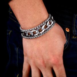 Stoere Herenarmband RVS