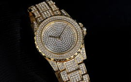 Luxe Bling Business Casual Horloge