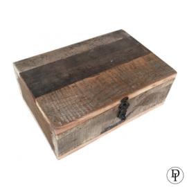 Stevige theedoos van hout