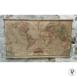 "Gekleurde wereldkaart ""the world"""